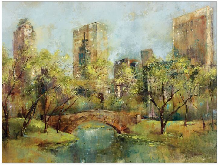 Bed Bath & BeyondSpring in the Park Canvas Wall Art