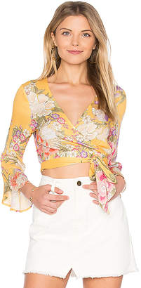 Spell & The Gypsy Collective x REVOLVE Blue Skies Wrap Top in Yellow $120 thestylecure.com
