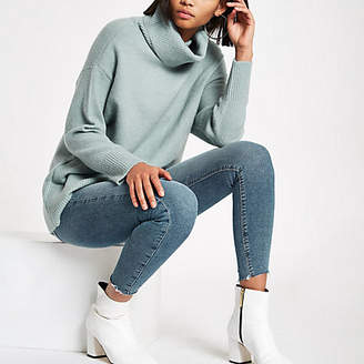 River Island Green oversized roll neck sweater