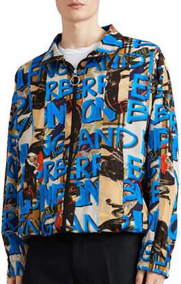 Burberry Men's Peckham Graphic-Logo Wind-Resistant Jacket