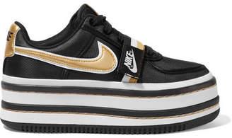 Nike Vandal 2k Metallic Faux Leather-trimmed Faille Platform Sneakers - Black