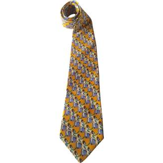 Givenchy Vintage Yellow Silk Ties