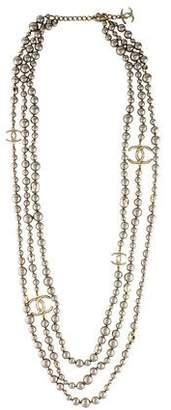 Chanel CC Logo Multistrand Necklace