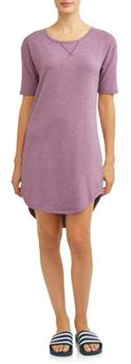 Athletic Works Women's Athleisure Lounge French Terry Dress