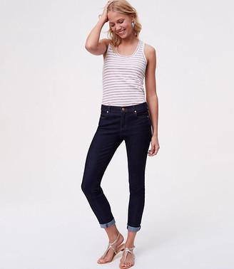 LOFT Petite Skinny Jeans in Dark Rinse Wash