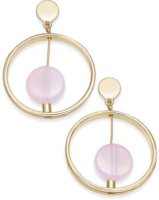INC International Concepts I.n.c. Gold-Tone Resin Stone Gypsy Hoop Earrings, Created for Macy's