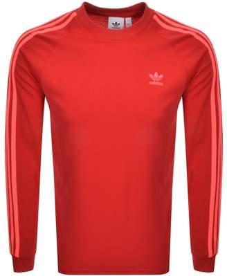 adidas Long Sleeved T Shirt Red