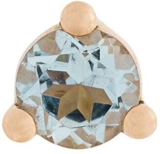 Delfina Delettrez 18kt gold Dots Solitaire aquamarine and pearl earring