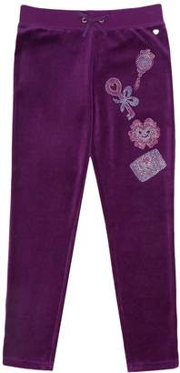 Juicy Couture Velour Stone Embellished Slim Pant for Girls
