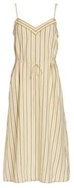 Rag & Bone Ilona Striped Silk Sleeveless Dress