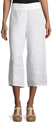 Eileen Fisher Linen Cropped Wide-Leg Pants $178 thestylecure.com