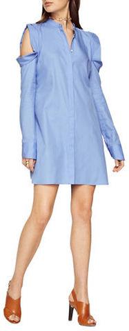 BCBGMAXAZRIABcbgmaxazria Jessee Cold-Shoulder Shirt Dress