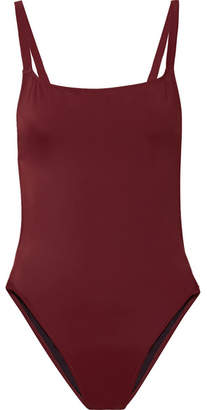 Solid & Striped The Toni Cutout Swimsuit - Burgundy