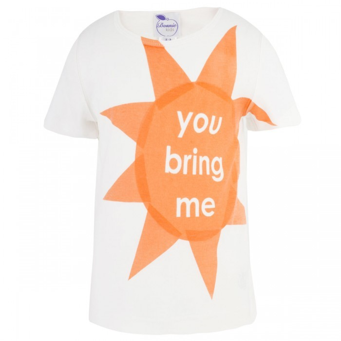 Bonnie Baby Off-white 'you bring me sunshine' tee