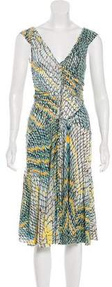 Just Cavalli Midi Printed Dress