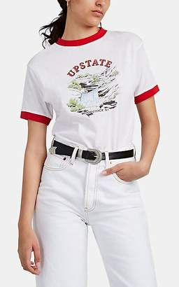 "Solid & Striped x RE/DONE Women's ""Upstate"" Slub Jersey T-Shirt - White"