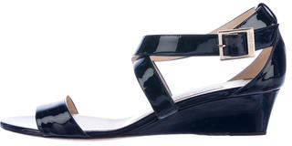 Jimmy Choo Jimmy Choo Patent Leather Wedge Sandals
