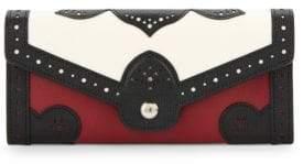 Longchamp Effrontee Colorblock Leather Wallet