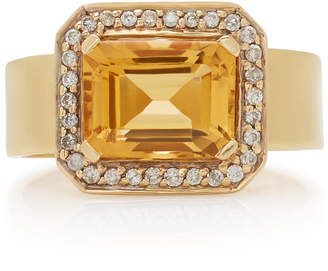 "Renee Lewis 18K Gold"" Topaz"" And Diamond Ring"