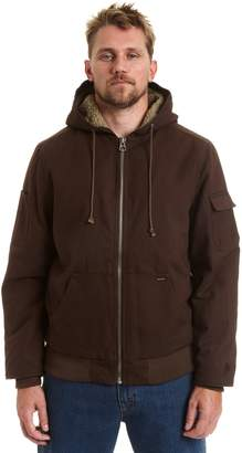 Stanley Big & Tall Canvas Sherpa-Lined Hooded Jacket