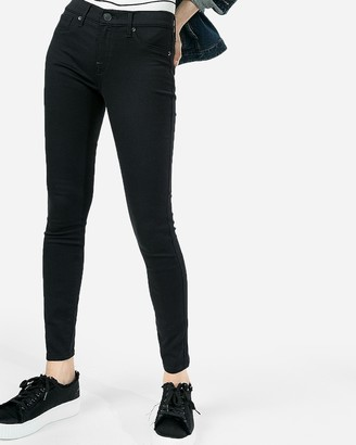 Express Mid Rise Black Extreme Stretch Jean Leggings