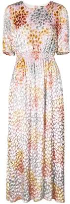 ADAM by Adam Lippes painted smocked maxi dress