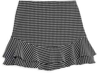 Aqua Girls' Textured Ruffle Skirt, Big Kid - 100% Exclusive