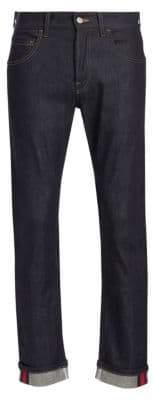 Gucci Slim Logo Stripe Jeans