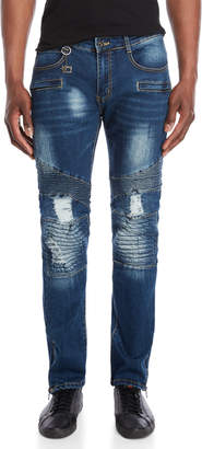Moto Blacx Distressed Standard Jeans