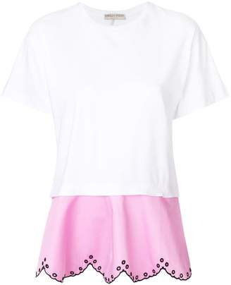 Emilio Pucci layered open embroidery T-shirt