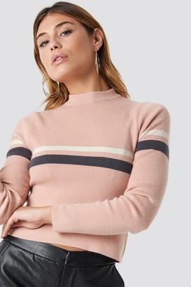 NA-KD Na Kd Striped Short Knit Dusty Pink