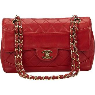 Chanel Vintage Timeless Burgundy Leather Handbag