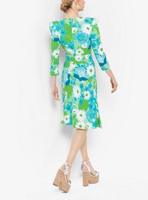 Michael Kors Floral Crepe-Sable Dress