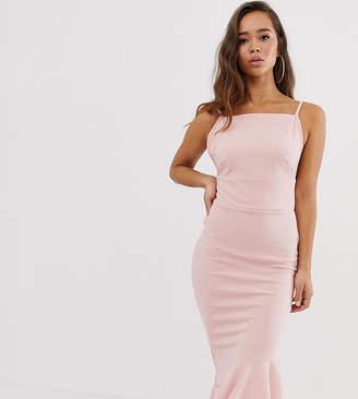 Missguided Asymmetric Hem Scuba Midi Dress