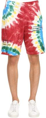 Tie Dye Cotton Sweat Shorts