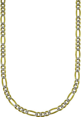 FINE JEWELRY LIMITED QUANTITIES! 10k Gold Two-tone Hollow Figaro 18 Chain Necklace