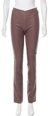 Stouls Straight-Leg Leather Pants