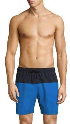 Theory Cosmos Colorblock Stretch Swim Shorts