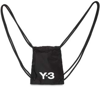 Y-3 Mini Logo Nylon Drawstring Backpack