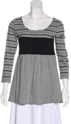 Theory Long Sleeve Striped Top