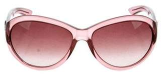 Saint Laurent Round Gradient Sunglasses