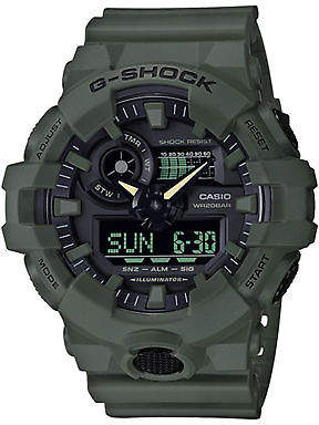G-Shock New G Shock Men's Ga 700 Utility Series Watch Fitted Green