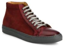 Saks Fifth Avenue COLLECTION Mix Media Leather High-Top Sneakers