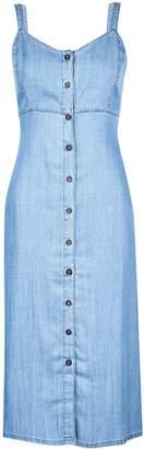 Dorothy Perkins Womens Midwash Blue Long Line Denim Sundress