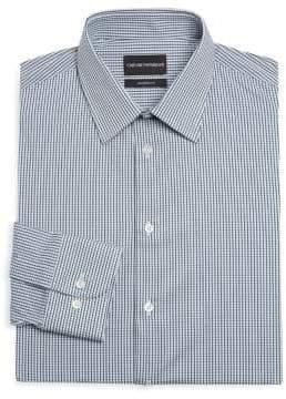 Emporio Armani Modern Fit Check Dress Shirt