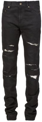Saint Laurent ripped jeans $1,132 thestylecure.com