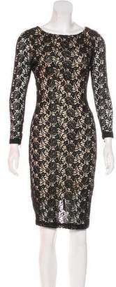 Alice + Olivia Lace Midi Dress