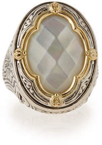 Konstantino Silver & 18k Gold Mother-of-Pearl Oval Ring