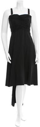 Yohji Yamamoto Ruched Silk Dress w/ Tags $1,995 thestylecure.com