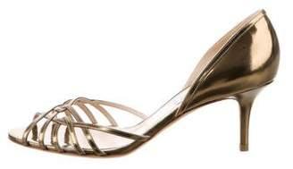 Jimmy Choo Metallic Cutout Sandals